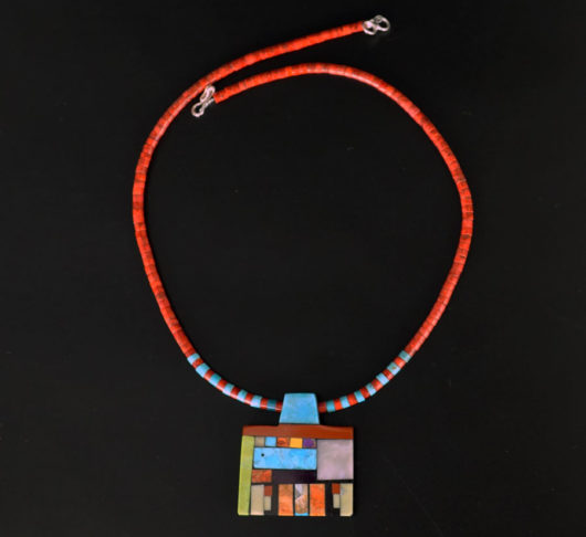 Mary Tafoya Geometric Shapes Necklace 2