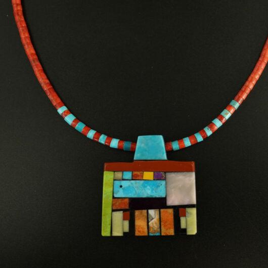Mary Tafoya Geometric Shapes Necklace 2