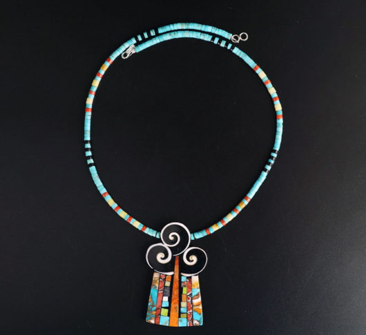 Mary Tafoya Swirl Necklace