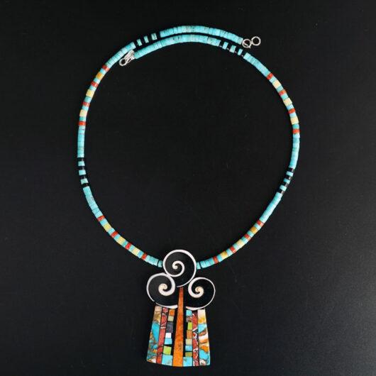 Mary Tafoya Swirl Necklace