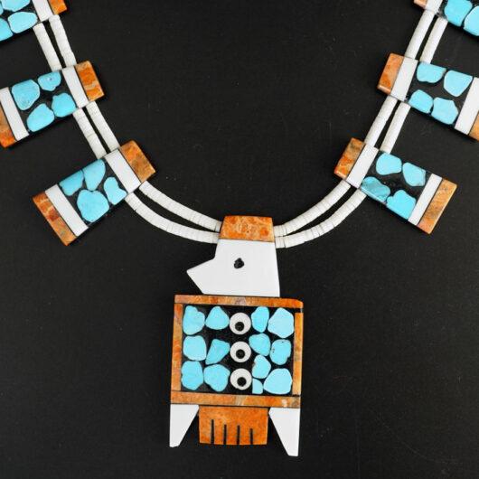 Mary Tafoya Thunderbird Mosaic necklace