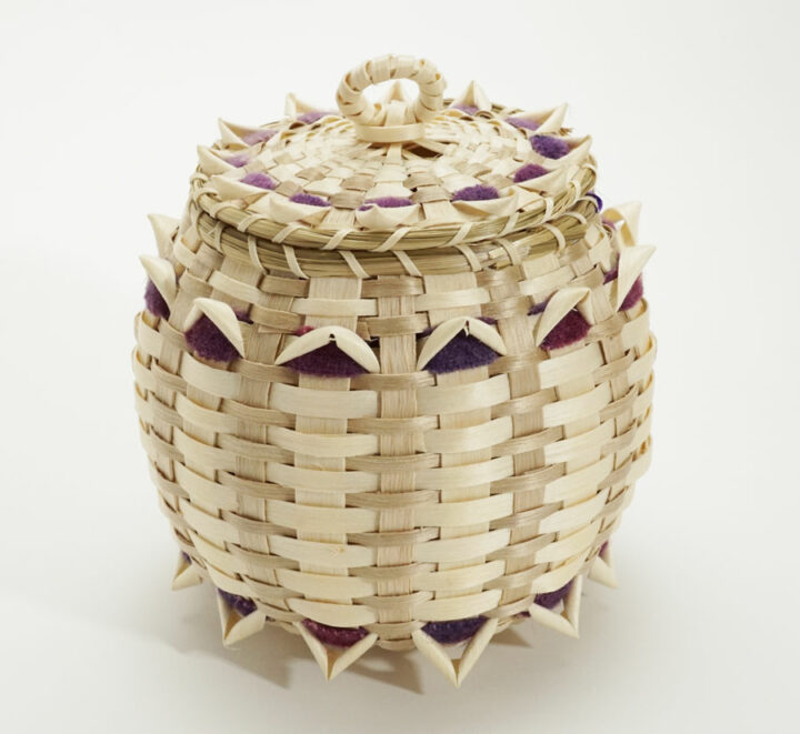 Pam Cunningham Wool Accents Point Basket