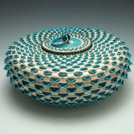 Jeremy Frey Large Turquoise Urchin Basket