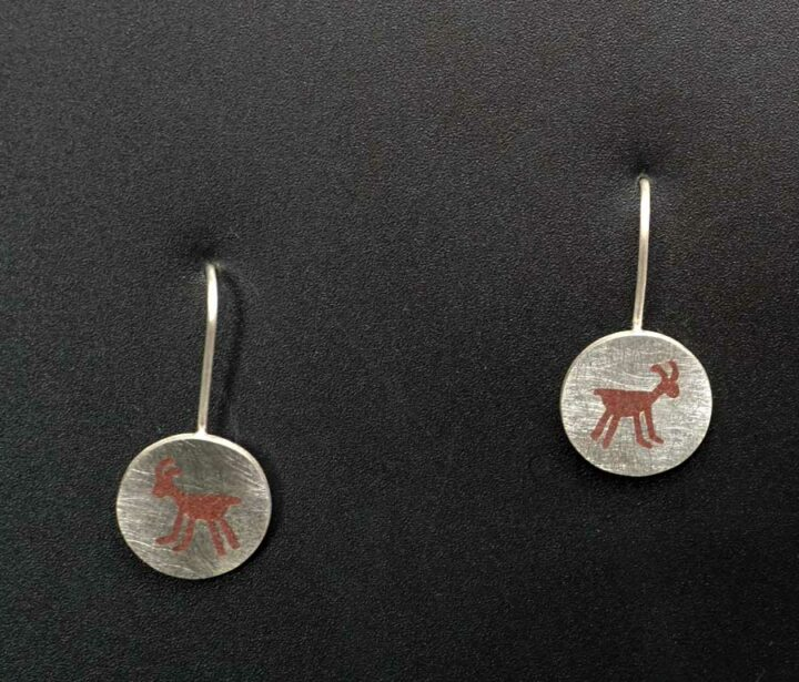 Amelia Joe-Chandler Antelope Inlay Earrings