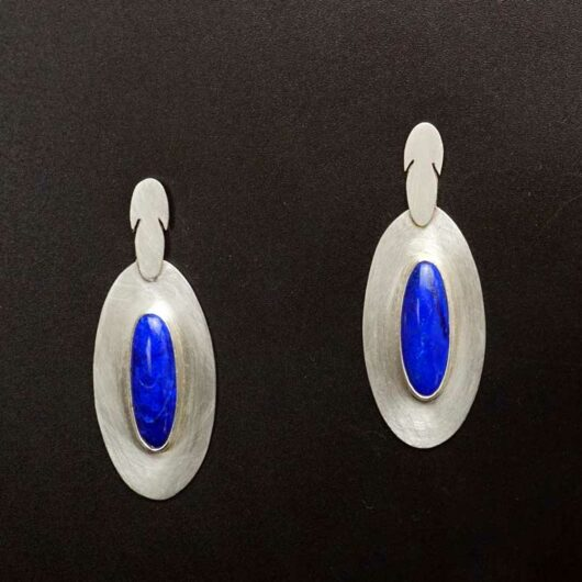 Amelia Joe-Chandler Feather Design Lapis Lazuli earrings