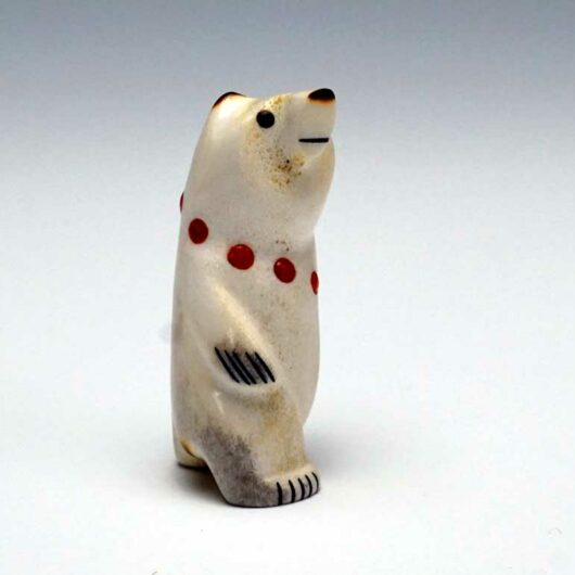Gabe Sice Miniature Standing Bear coral necklace