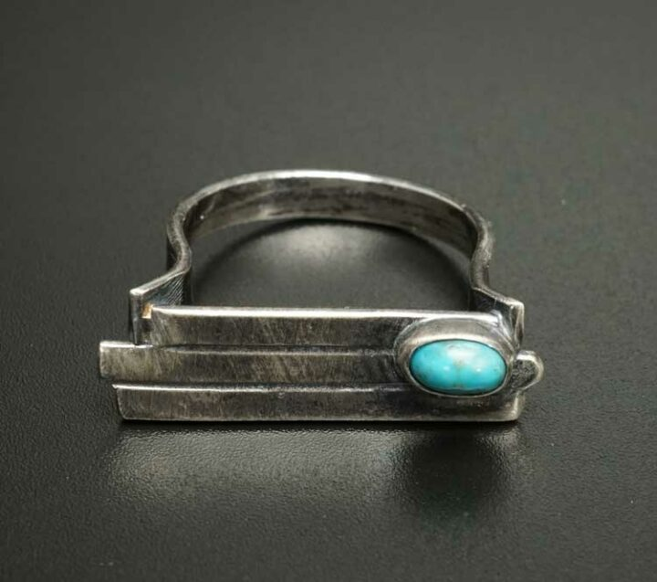 Margaret Jacobs Sterling Silver Turquoise Ring