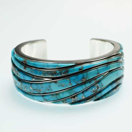Earl Plummer Morenci Turquoise Wave Bracelet