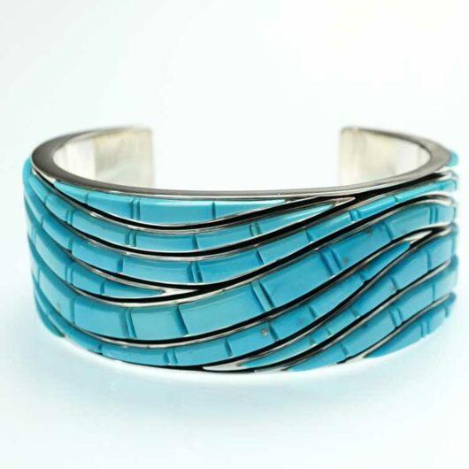Earl Plummer Sleeping Beauty Cobbled Wave Bracelet