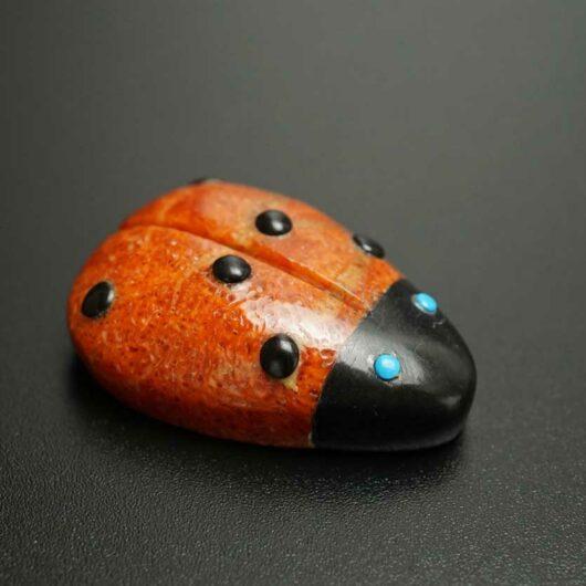 Georgette Quam Apple Coral Ladybug