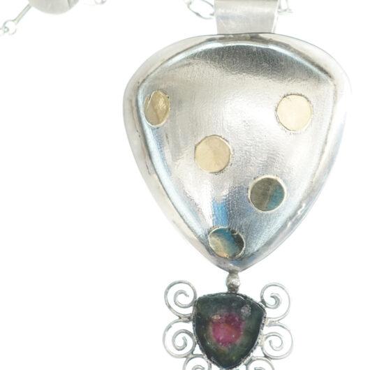 Shawn Bluejacket tourmaline necklace-pin