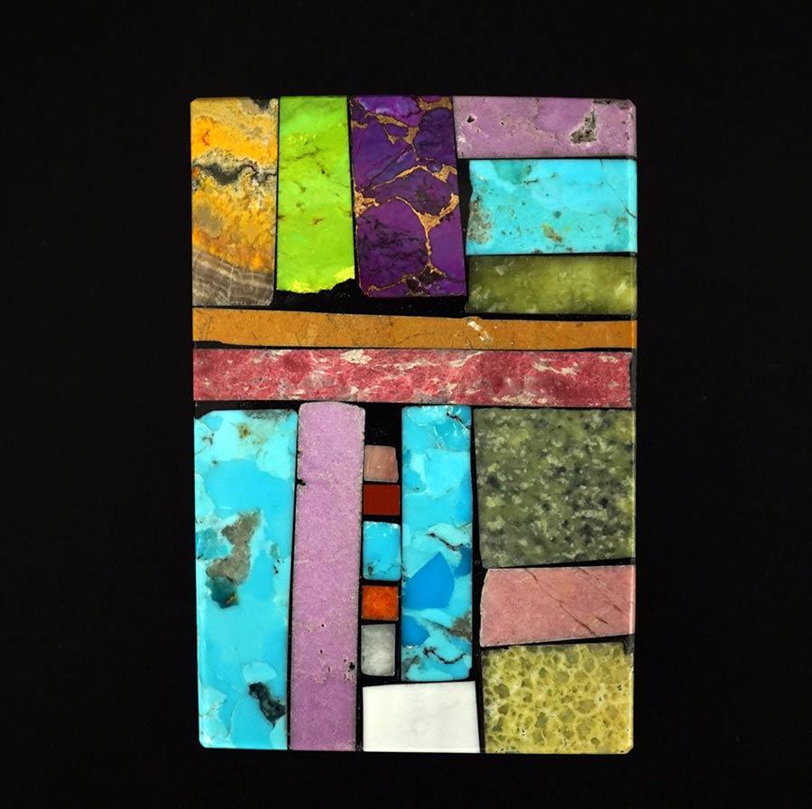 Mary Tafoya Mosaic Geometric Pin