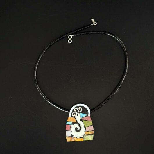 Mary Tafoya Mosaic bird Necklace