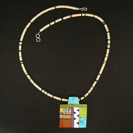 Mary Tafoya Mosaic Necklace 13