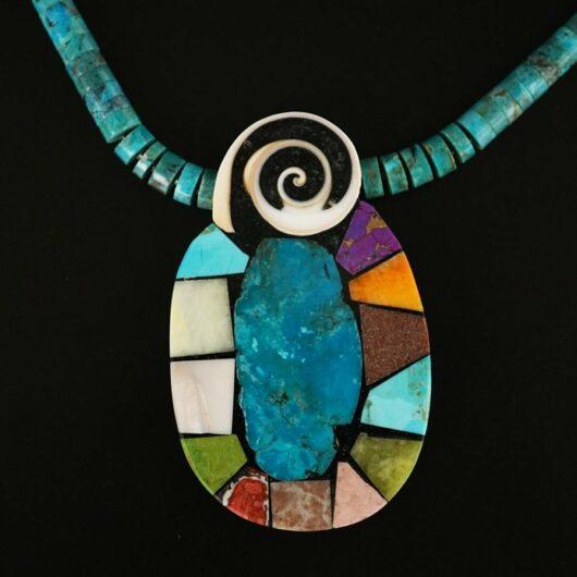 Mary Tafoya Mosaic Necklace 14