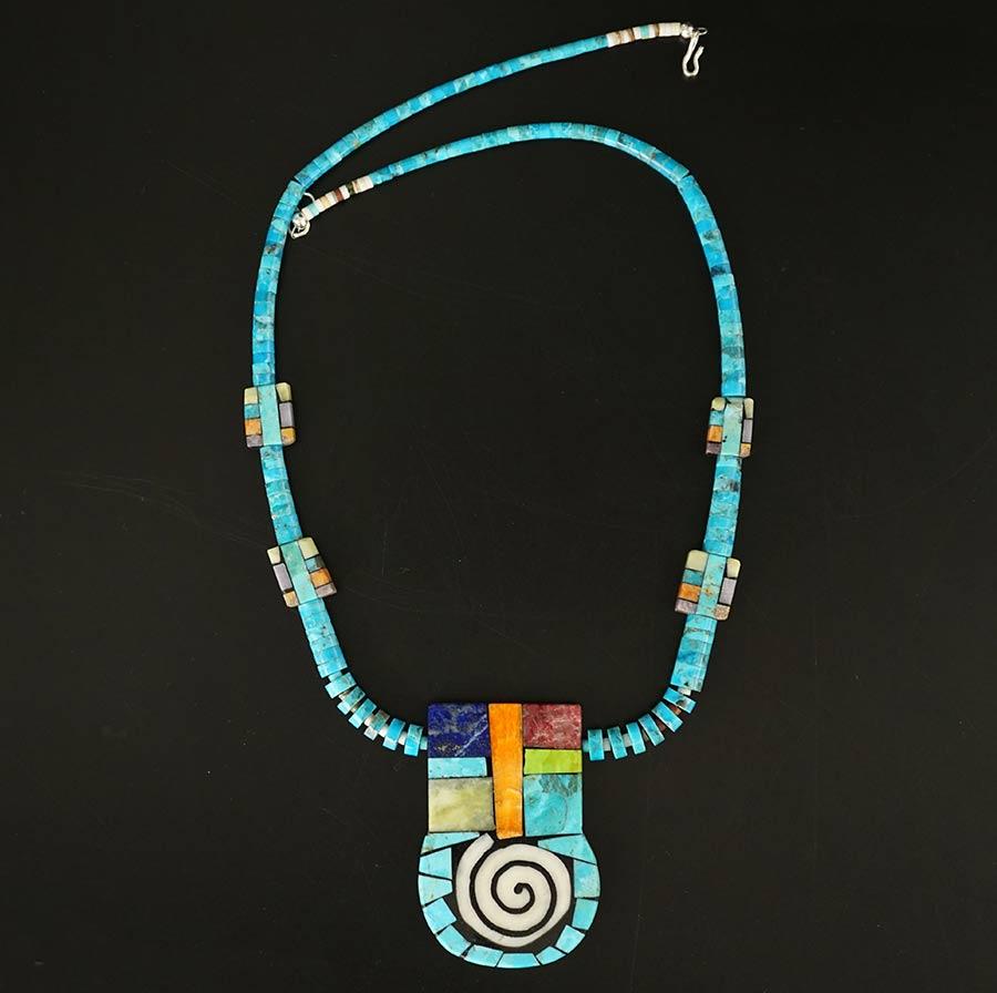 Mary Tafoya mosaic necklace 12