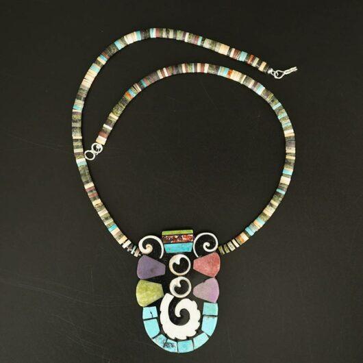 Mary Tafoya Mosaic necklace 11