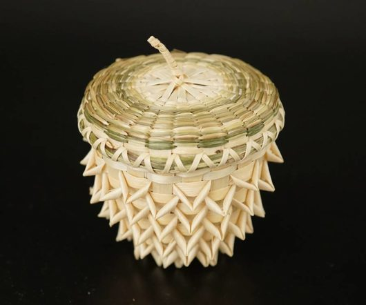 Pam Cunningham pine cone basket