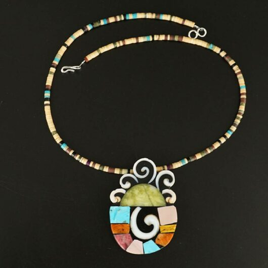 Mary Tafoya Rising Sun Necklace