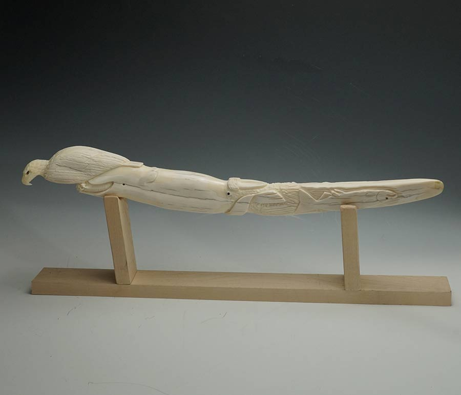 Sam Dimmick Carved Walrus Tusk