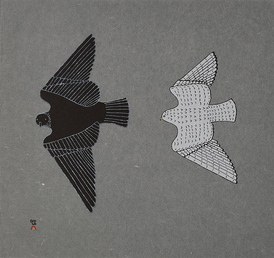 Johnny Pootoogook Aerial Pursuit