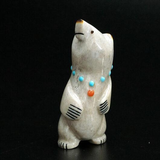 Gabe Sice Zuni Fetish Standing Bear 1 Native American Art
