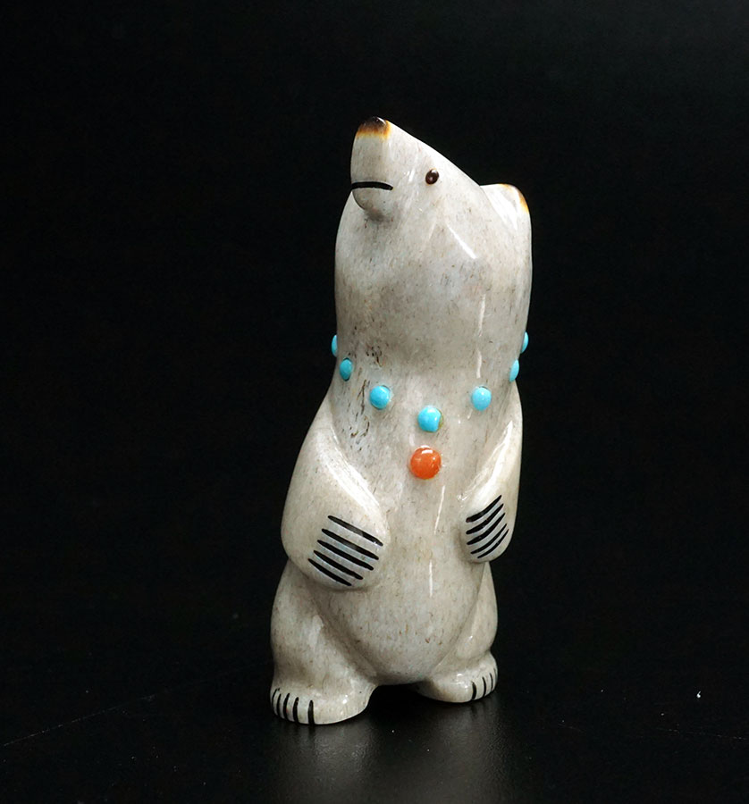Gabe Sice Zuni Fetish Standing Bear 1 Native American Art