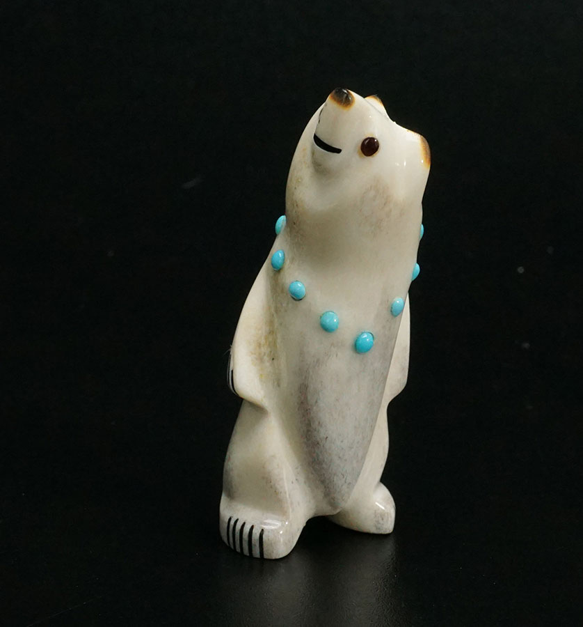 Gabe Sice Zuni Fetish Standing Bear Native American Art