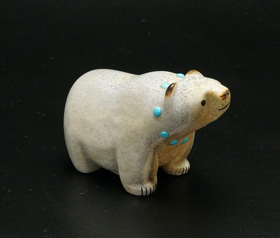 Gabe Sice Zuni Carving Walking Bear 3 Native American Art