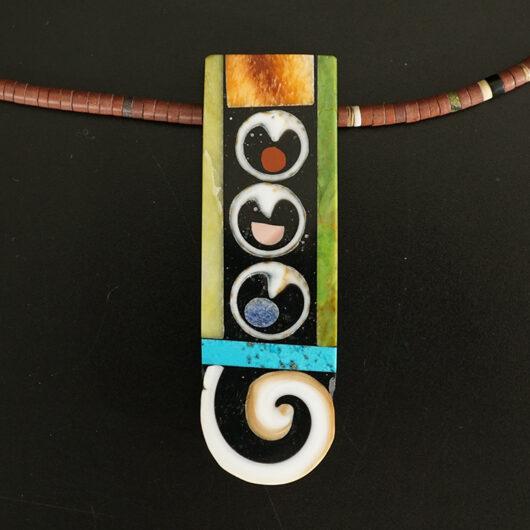 Mary Tafoya Native American Jewelry Santo Domingo Mosaic Unity Necklace