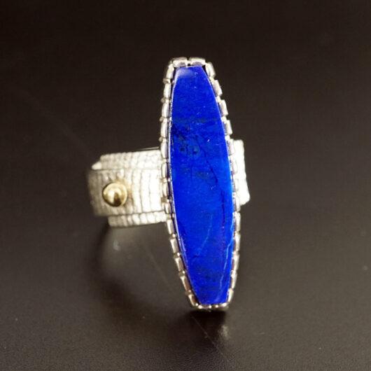 Native American Jewelry Althea Cajero Sterling Silver Lapis Lazuli Ring