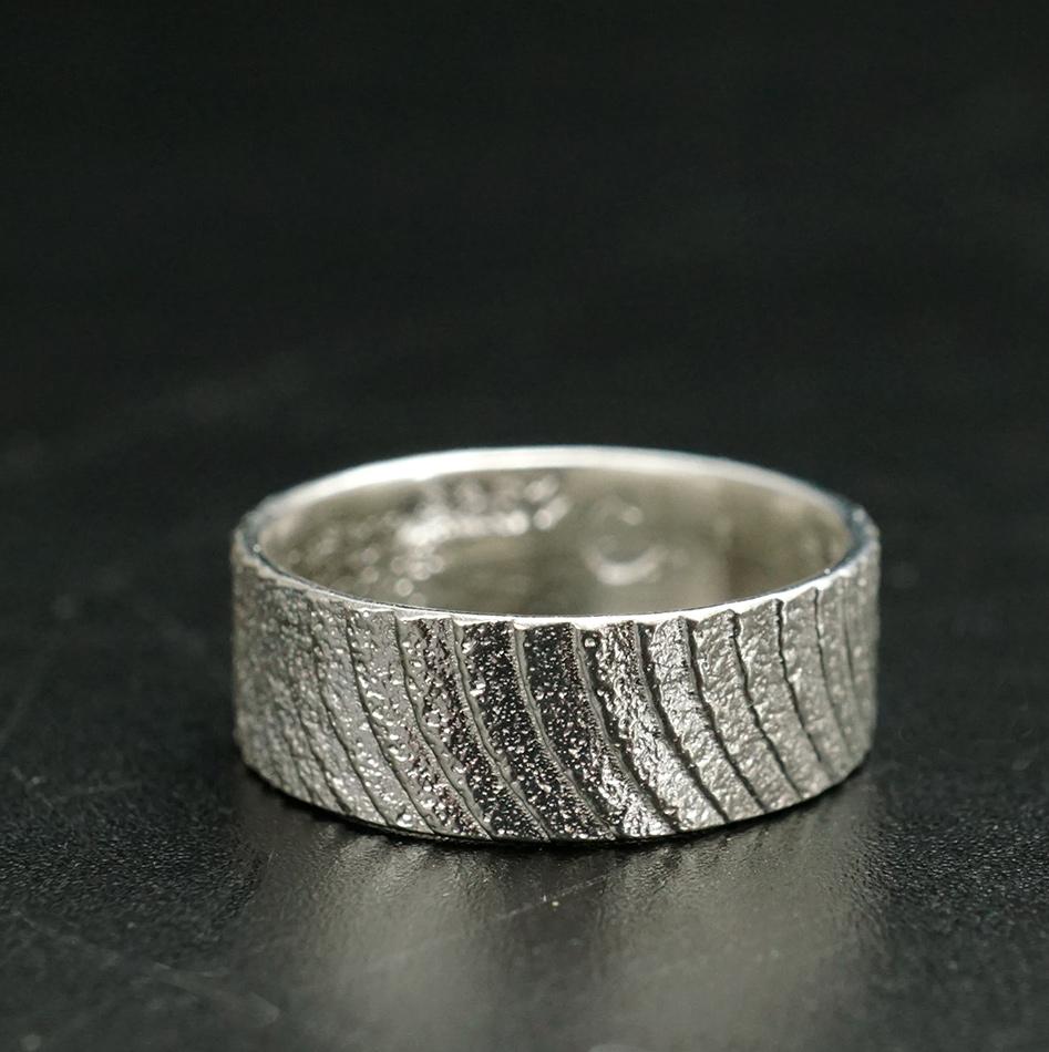 Althea Cajero Santo Domingo Cuttlefish Cast Sterling Silver Ring Native American Jewelry