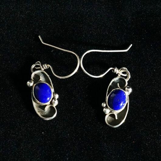 Native American Jewelry Navajo Artist Cheryl Arviso Lapis Lazuli Earrings
