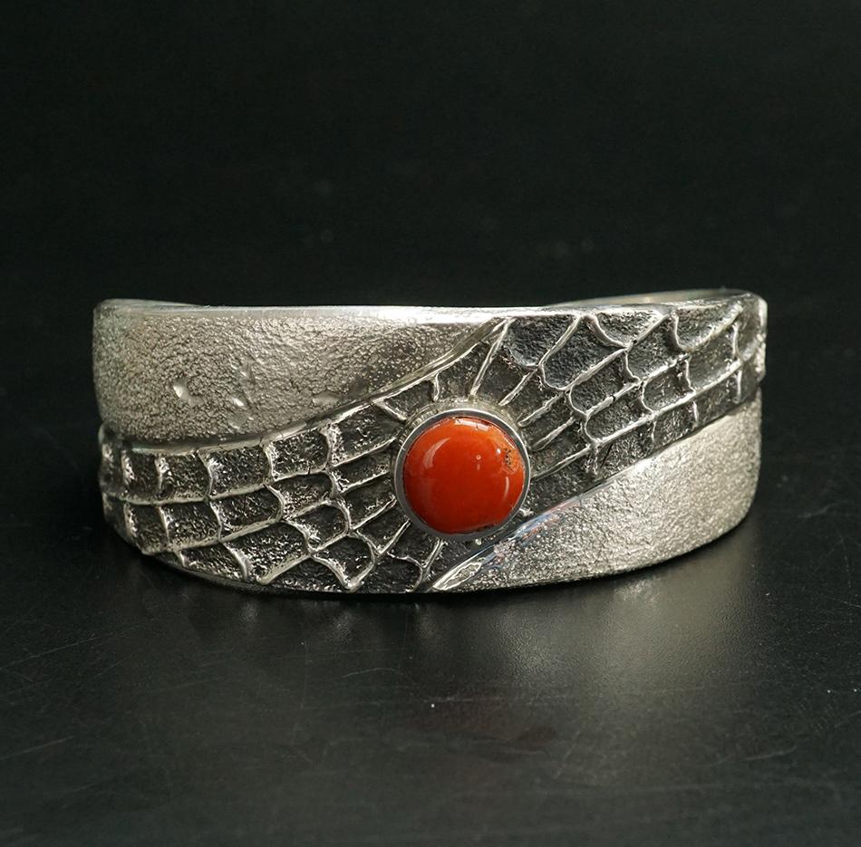 Lance Plummer Tufa Cast Spider Bracelet Native American Jewelry