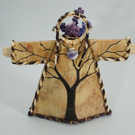 Native American Art Aron Griffith Premium Earth Effigy Wabanki Birch Bark Basket Tree Design