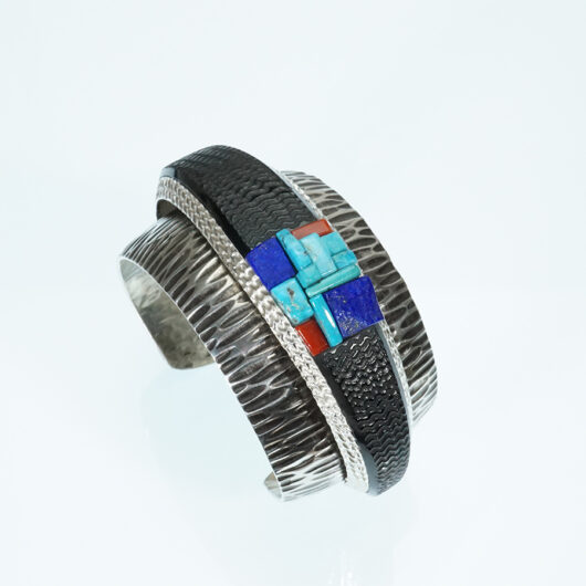 Navajo Jewelry Alvin Yellowhorse Double Inlay Bracelet