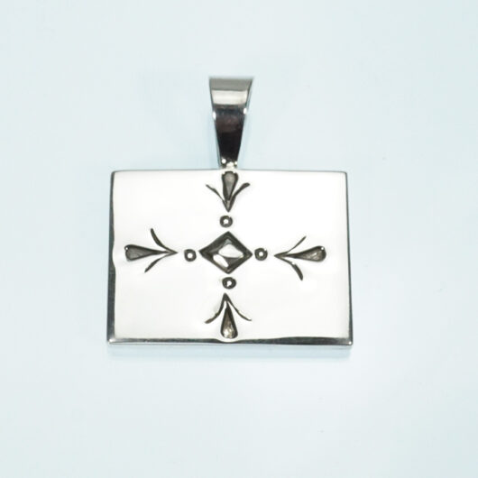 Wade Plummer Overlay Stamped Pendant Native American Jewelry