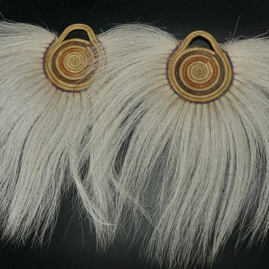 Vintage Alaskan Native Art Yup'ik Eskimo Woven Dance Fans