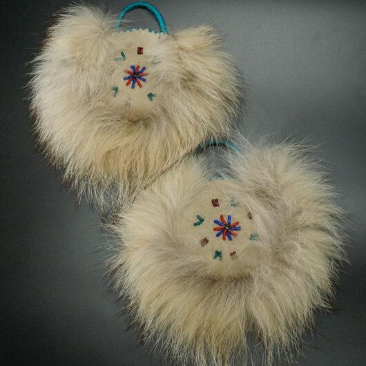 Beaded Alaskan Eskimo Dance Fans