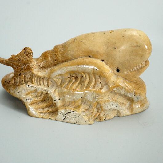 Vintage Eskimo Bone Whale