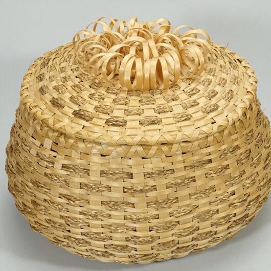 Claire Brooks Passamaquoddy Basket Braided Sweetgrass.