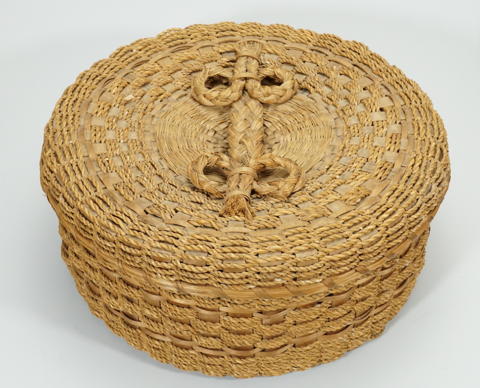 Vintage Wabanaki Hong Kong Cord Basket