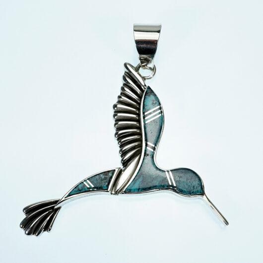 Navajo Sterling Silver Pendant Earl Plummer Hummingbird
