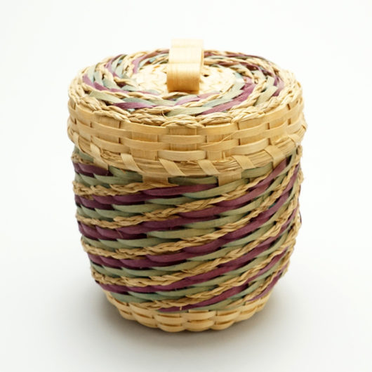 Wabanaki Basket 3 Inch Passamaquoddy Master Clara Keezer