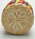 Passamaquoddy Clara Keezer 4 inch multi-color basket ME00559-4