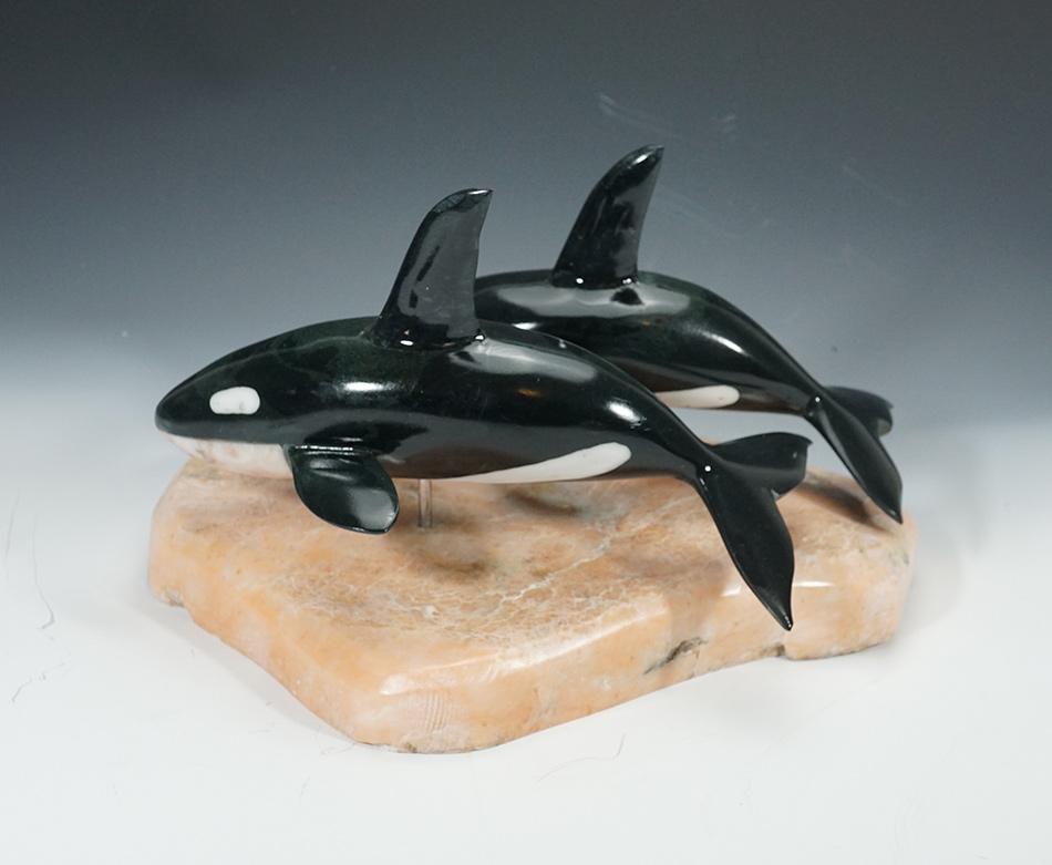 Inupiaq Artist Sam Dimmick Orca Sculpture