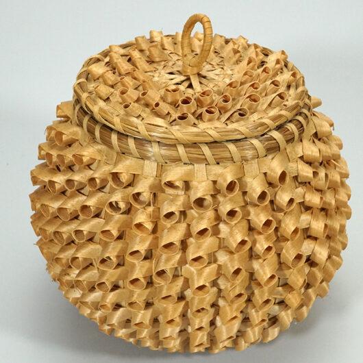 Passamaquoddy Weaver Theresa Neptune Gardner Wabanaki Curly Bowl Basket