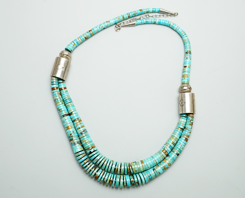 Two Tier Turquoise Bead Necklace Native American Jewelry