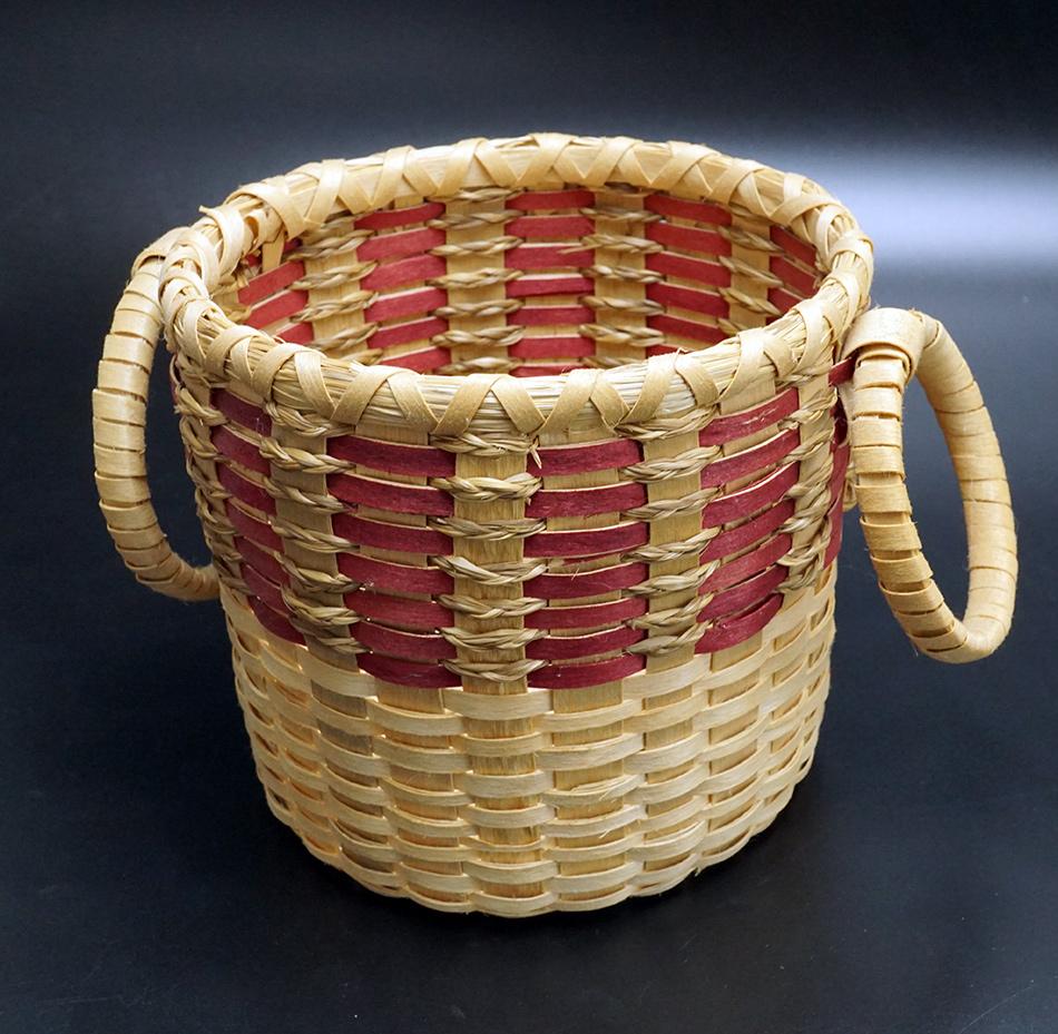Passamaquoddy Artist Delia Mitchell Open Basket