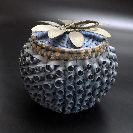 Wabanaki Doris Neptune Ash and Sweetgrass Blueberry Basket